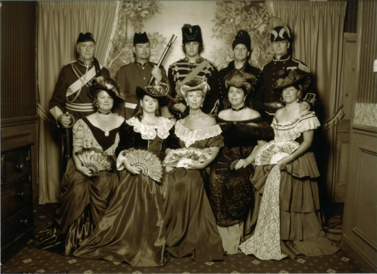 Hashers in Victorian dress